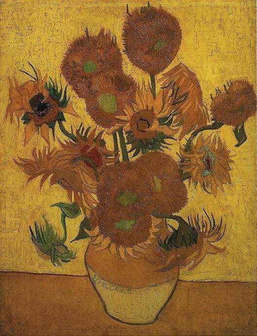 Vaso con quindici girasoli (Arles, gennaio 1889). Van Gogh Museum, Amsterdam, Olanda.