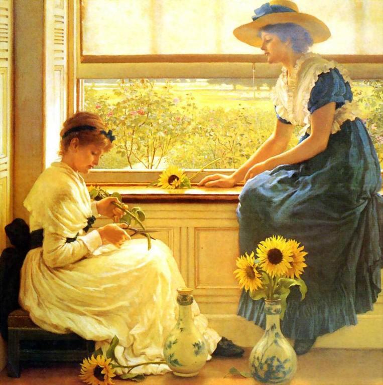 Sun and Moon Flowers - Artist: George Leslie