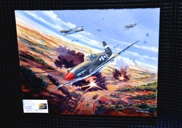 """Mustang Attack"" original on display"