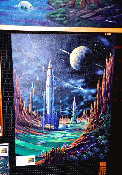 """""""Planet of Hidden Dangers"""" original on display"""