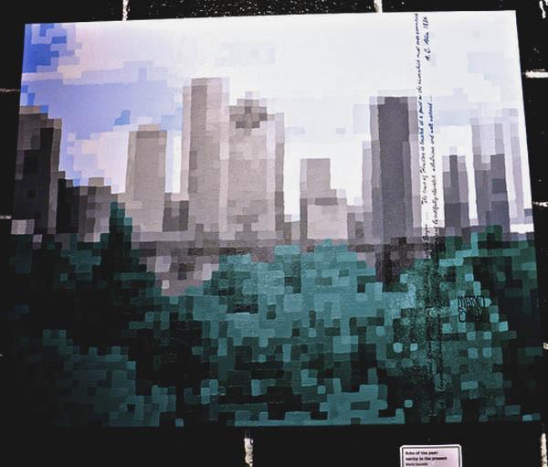 Marlo Saucedo - painting 3 (Pixel skyline)
