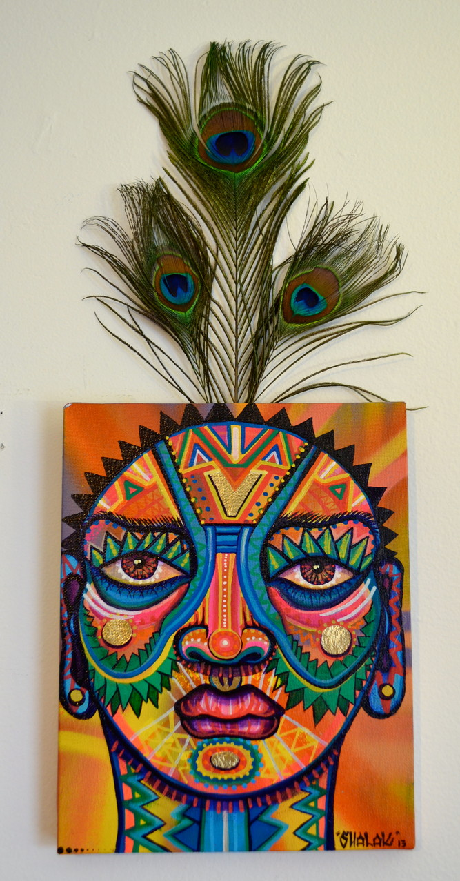 """""""Carter Colorida 2"""" By Shalak, Mixed Midia on Canvas, 2013, Canada (Sold to Private Collector - Sweden)"""