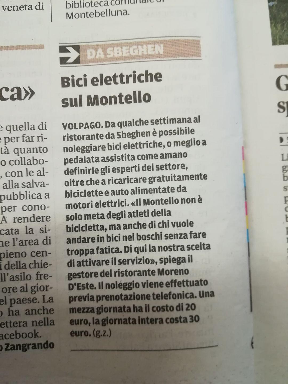 Punto Service , cicloturismo elettrico