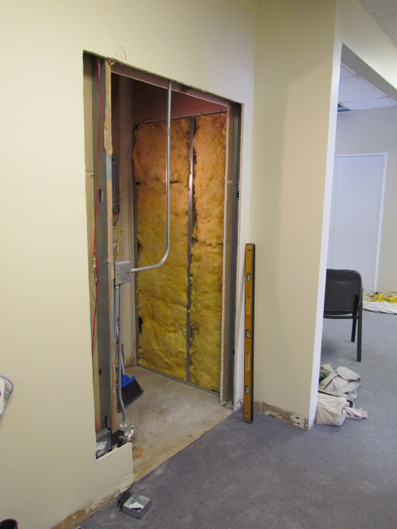 Old opening needs filled in and drywalled