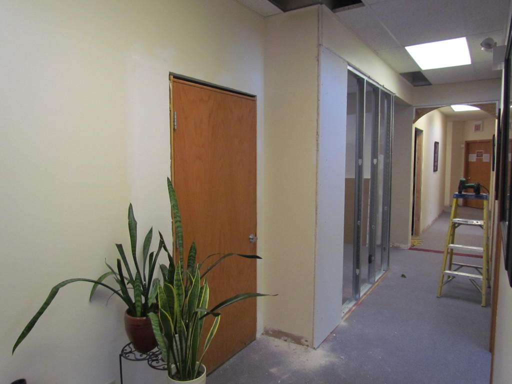 Now that door system is installed it is timeto build a new wall