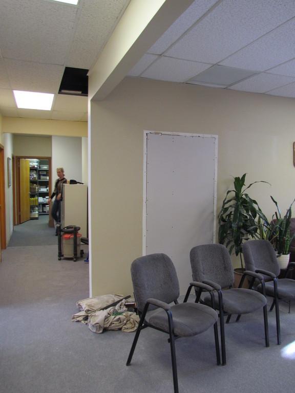 View of where door was