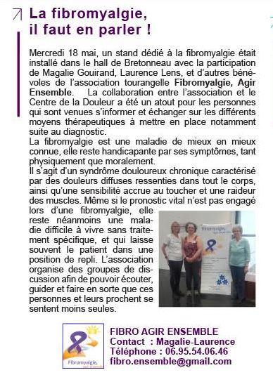 Extrait du journal interne du CHU Bretonneau, 01 juin 2016