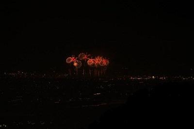 長岡花火も見られました