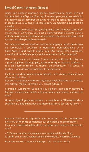 """Bio de Bernard Clavière, auteur du livre """"Et si on s'arrêtait un peu de manger... de temps en temps"""""""