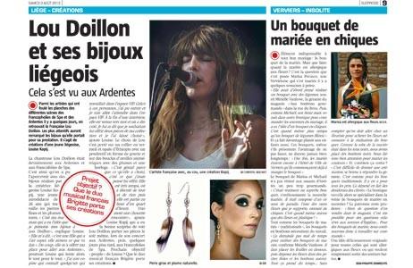 lou doillon article dans Sudpress du 03082013