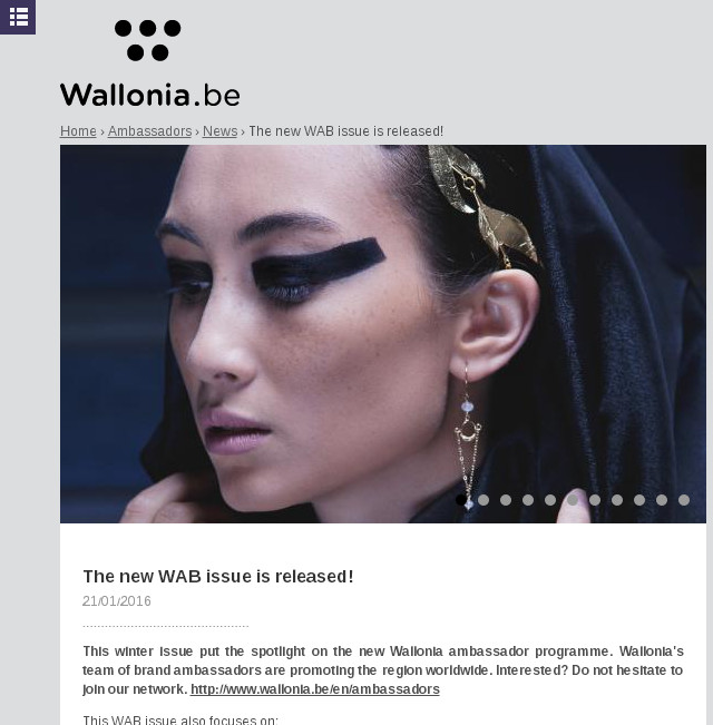 WaB Magazine || Janvier 2016 || infos: http://www.wallonia.be/en/news/new-wab-issue-released