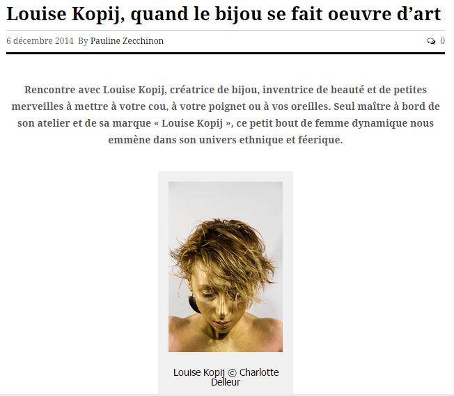 Mode in Belgium || décembre 2014 || http://modeinbelgium.com/louise-kopij-quand-le-bijou-se-fait-oeuvre-dart/