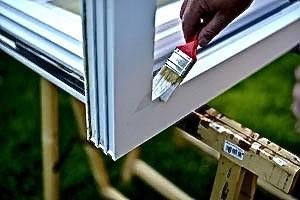 Kunststoff-Fenster-Rahmen mit Bergotec Kunststoff-Fenster-Lack lackieren - Teilansicht
