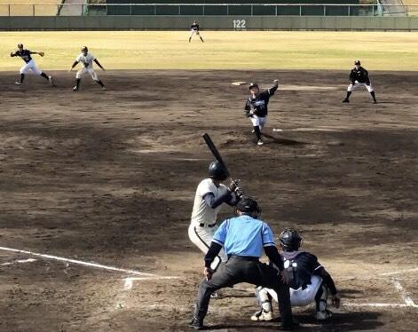 試合中の風景。