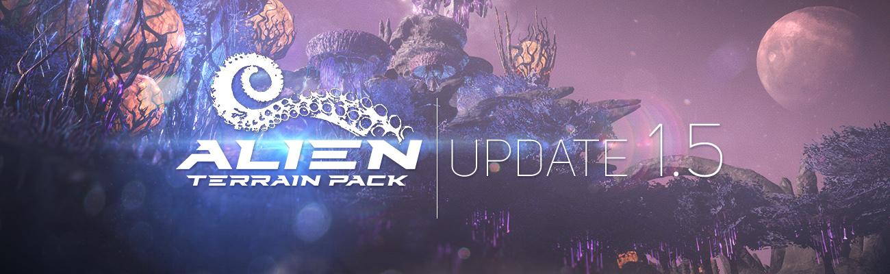 Alien Terrain for Unity updated!