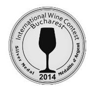 Jahrgang 2012: Silbermedaille, Int. Wine Contest Bucharest 2014