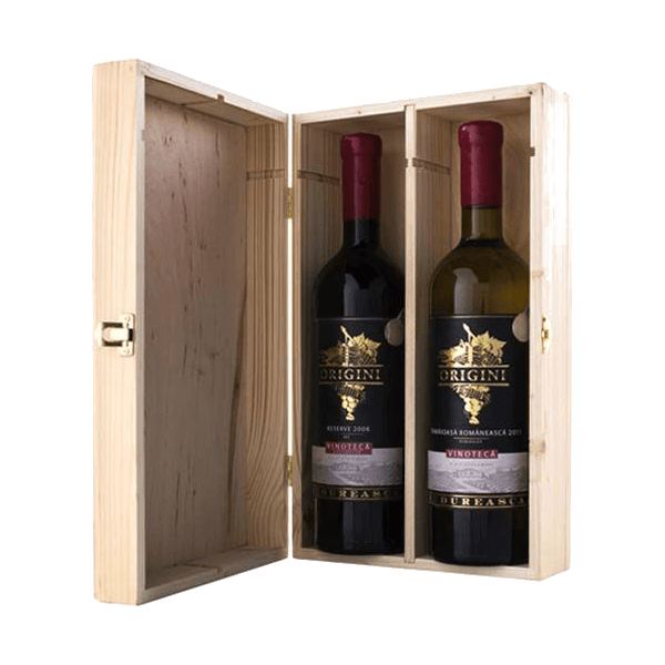 2-er Holzkiste | Geschenk-Box für 2x Weinflaschen ( 0,75 l )