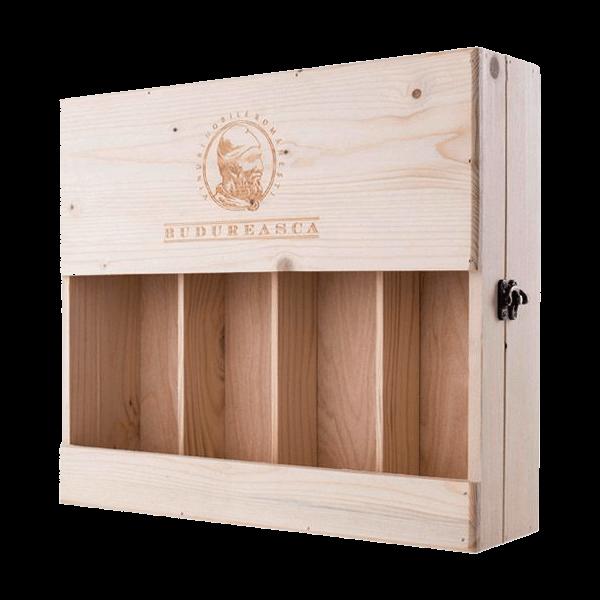 4-er Holzkiste | Geschenk-Box für 4x Weinflaschen ( 0,75 l )