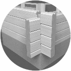 Wandaufbau mit Thermowand - Wohnblockhaus - Blockwand mit Wärmedämmung - Blockbohlenhaus