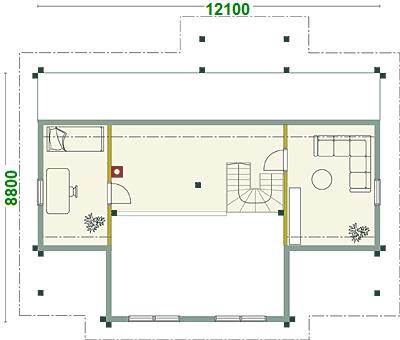 OG - Blockhaus Hausentwurf