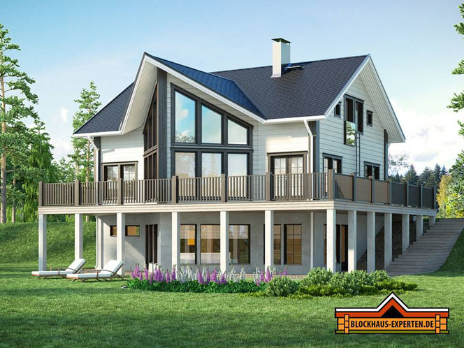 Landhaus - Blockhaus - Exklusive Villa  in ökologischer Blockbauweise - Holzhäuser in Blockbauweise - Brandenburg - Neuruppin - Cottbus - Bernau - Fürstenwalde - Spreewald - Lübben