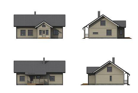 Entwurfsplanung -  Individuelle Holzhäuser in Blockbauweise in Neustadt -  Niedersachsen - Holzbau