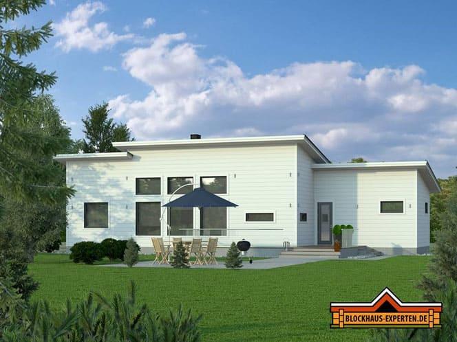 Einfamilienhaus in massiver Blockbauweise - Blockhaus - Stadtvilla - Hannover - Laatzen - Blockhäuser - Holzhäuser - Bauhaus