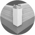 Kurzecke/Cityeck für Wohnblockhäuser in dem Citybereich - Stadthaus - Stadtvilla - Blockhaus bauen - Bausatz