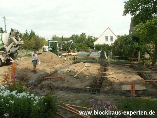 Fundament - www.blockhaus-experten.de