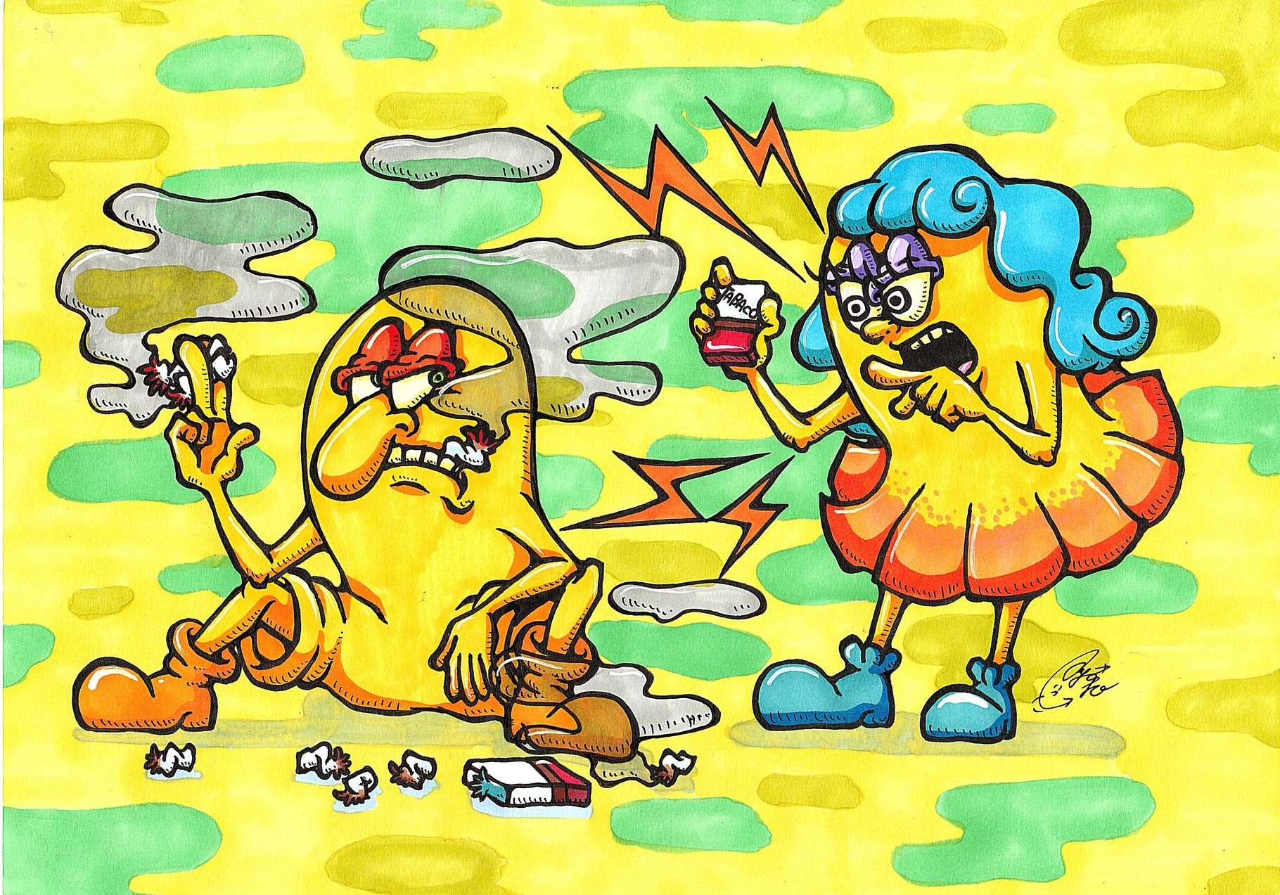 YELLOW JUNKIE「タバコは体に悪いんだから」