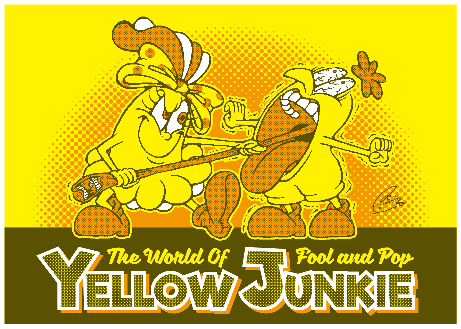 YELLOW JUNKIE「キイタのノドチンコを引っ張るキイコ」