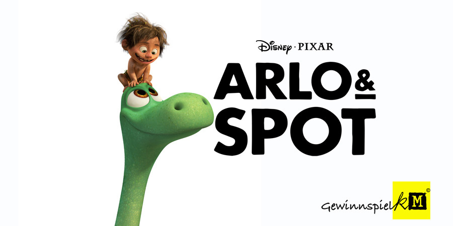 Arlo und Spot - Disney Pixar - kulturmaterial - Gewinnspiel Title