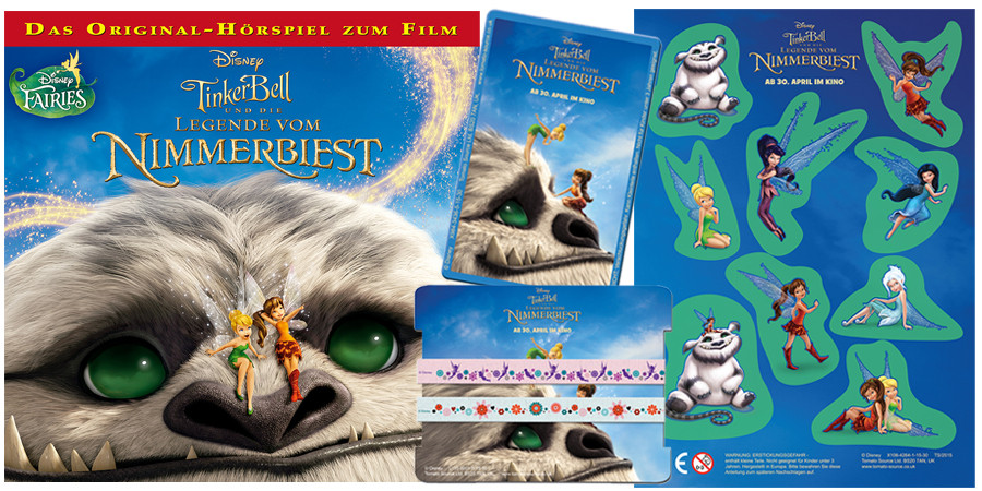 Tinkerbell Legende vom Nimmerbiest - Disney - kulturmaterial - Gewinnspiel - Hörspiel