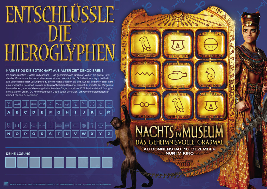 Nachts im Museum 3-Ben Stiller-20TH Century Fox-kulturmaterial-Gewinnspiel-Rätsel