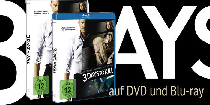3 Days To Kill-Kevin Costner-DVD-Blu-ray-Universum-kulturmaterial