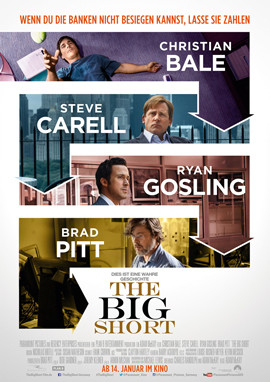 The Big Short - Christian Bale - Brad Pitt - Paramount - kulturmaterial