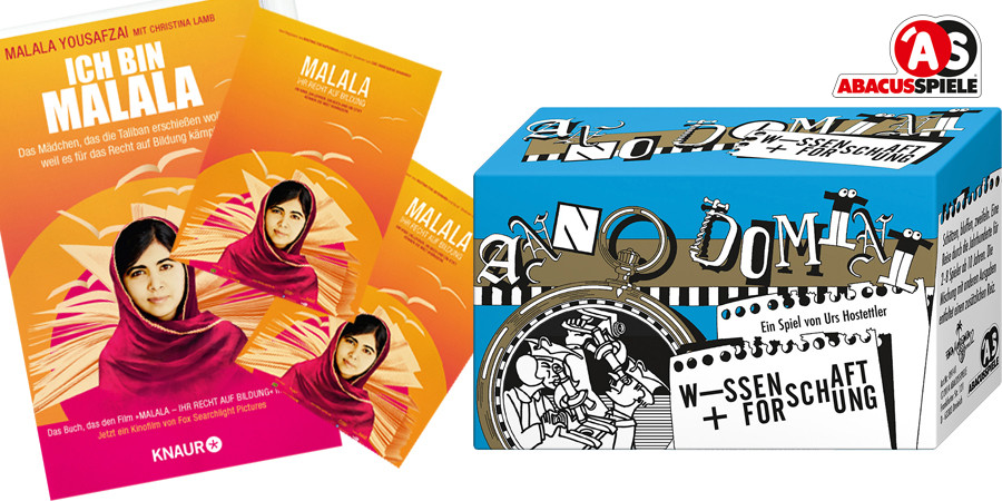 Malala Yousafzai - Documentary by Davis Guggenheim - 20th Century Fox - kulturmaterial - Fan Artikel - Kinogutschein - Buch - Anno Domini Abacus Spiele
