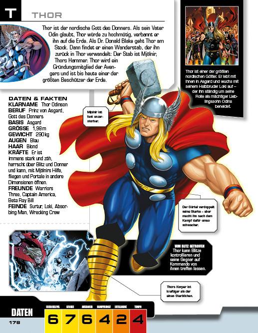 Marvel Avengers - Lexikon der Superhelden - Thor - DorlingKindersley - kulturmaterial