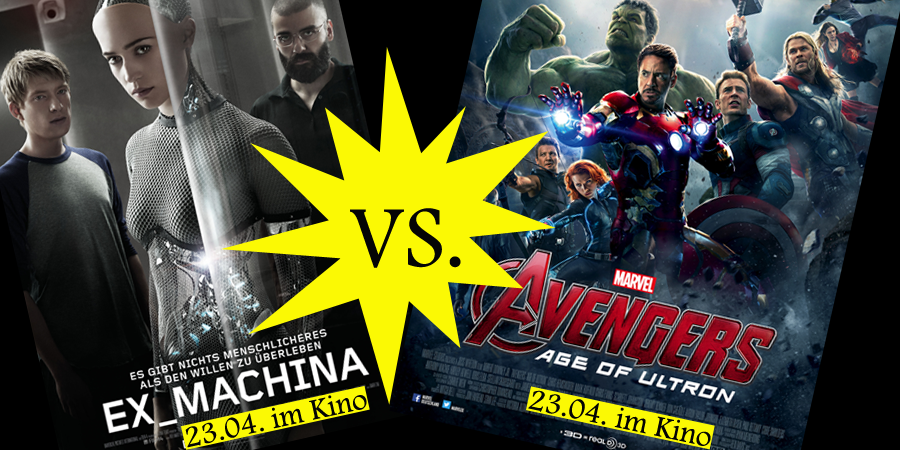 Avengers Age of Ultron - Marvel - Disney - vs - Ex Machina - Universal - kulturmaterial