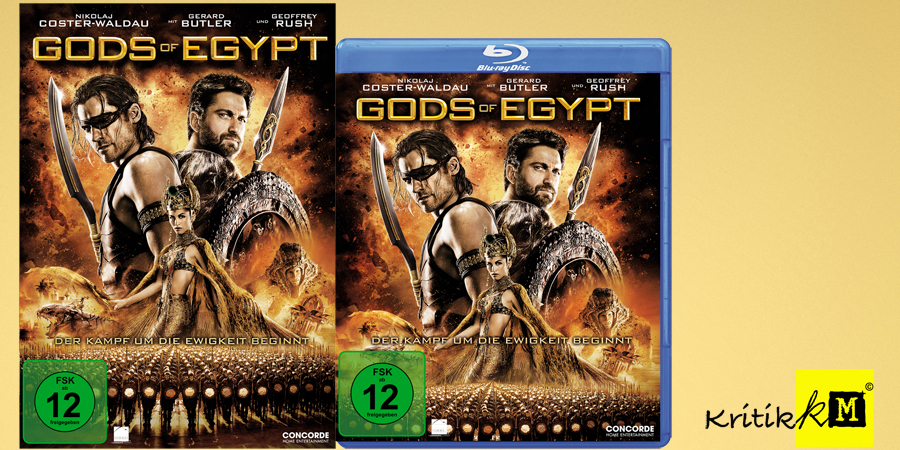 Gerard Butler - Gods Of Egypt Blu-ray DVD - Concorde - kulturmaterial