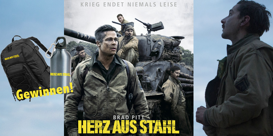 Herz aus Stahl-FURY-Brad Pitt-Sony-kulturmaterial-Gewinnspiel