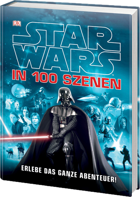 Star Wars in 100 Szenen - Dorling Kindersley - kulturmaterial - Cover 3D