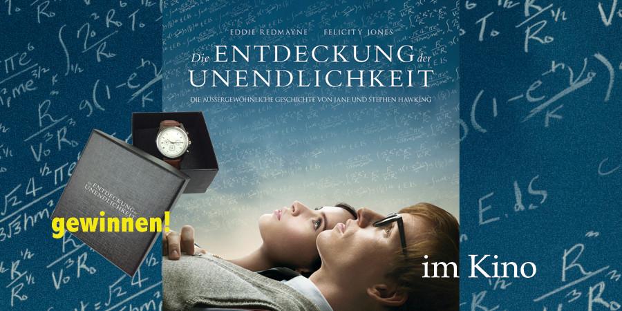 Die Entdeckung der Unendlichkeit-Stephen Hawking-Universal-kulturmaterial-Kino-Gewinnspiel