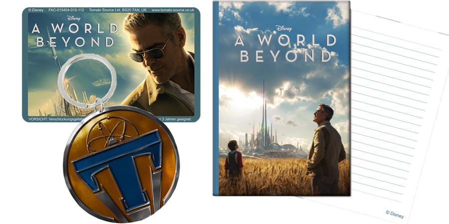Tomorrowland A World Beyond - Gewinnspiel - Disney - kulturmaterial - Pin - Notizbuch - Magnet