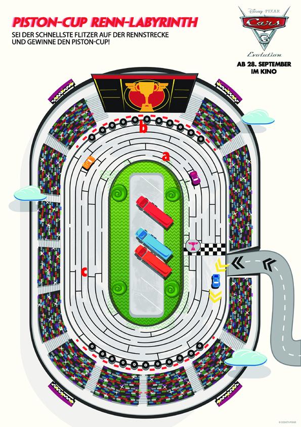 Cars 3 Labyrinth - Disney - Pixar - kulturmaterial