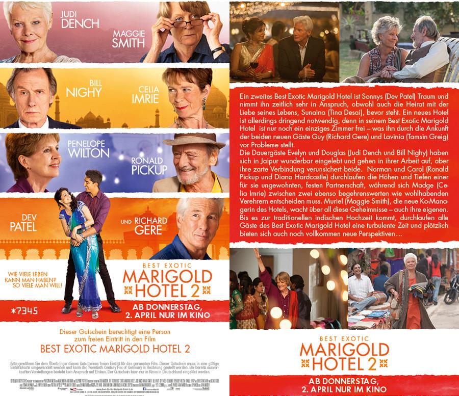 Best Exotic Marigold Hotel 2 - 20th Century Fox - kulturmaterial - Gewinnspiel
