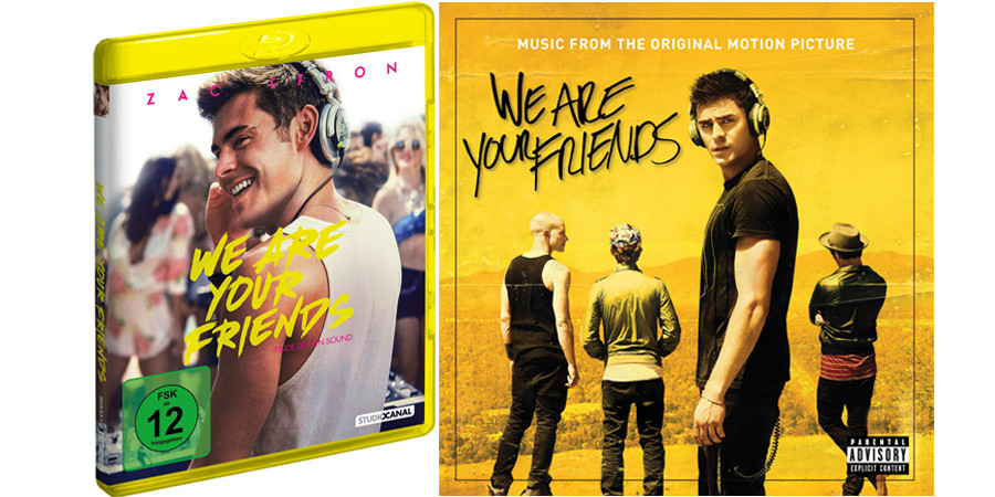 Zac Efron - We Are Your Friends - Blu-ray - Studiocanal - Fan Artikel Gewinnspiel