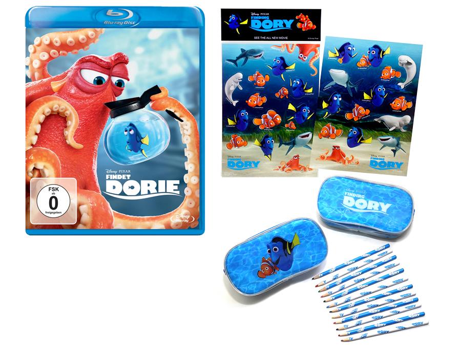 Findet Dorie Blu-ray - Disney Pixar - kulturmaterial - Gewinnspiel