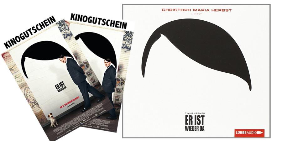 Er ist wieder da - Film - Hörbuch - Gewinnspiel - Constantin - kulturmaterial - Gewinnspiel