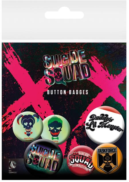 Suicide Squad Fanartikel - Ansteckbutton - EMP Merchandising - kulturmaterial